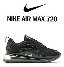 Nike Air Max 720 2020 Trainers Black Gold Silver UK 8.5 UNISEX Men Women GENUINE