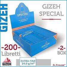 10000 Cartine GIZEH SPECIAL CORTE 2 BOX 200 LIBRETTI DA 50 - EXTRA FINE ORIGINAL
