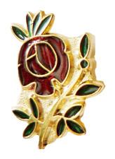 Rose Croix Cut Out Masonic Freemasonry Pin Badge