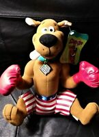 Toy Network Hanna Barbera Plush USA Boxer Boxing Scooby Doo Dog Doll 11""