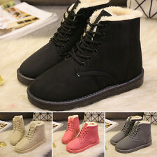 Winter Warm Lady Womens Lace up Ankle BOOTS Ladies Buckle Platform Shoes Leisure