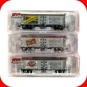 N Scale BEERS of WISCONSIN 3-Pack #2 Set - 40' Reefer Cars - ATLAS NSE ATL 12-22
