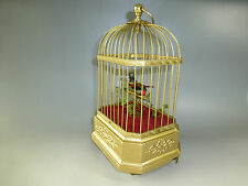 BEST QUALITY GERMAN ANTIQUE SINGING BIRD CAGE MUSIC BOX AUTOMATON (WATCH VIDEOS)