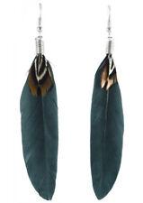 F1643F Feather Earrings Simple Dangle Eardrop Fashion Handmade Jewelry