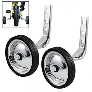 HUWAY Training Wheels Mute Wheel Bicycle stabiliser Mounted Kit Compatible for Bikes of 12 14 16 18 20 Inch, 1 Pair