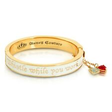 "Disney Couture 14kt Gold-Plated ""Whistle While You Work"" Snow White Bangle"