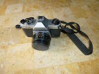 Asahi Pentax K-1000 35mm Film Camera W/ SMC Pentax 1:2 55mm Lens AS IS Untested
