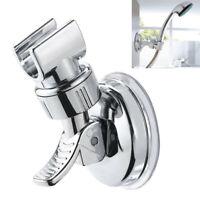 Shower Head Holder CHROME Bathroom Wall Mount Adjustable Suction Bracket