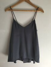 RRP Ginger And Smart Grey Cami With Rose Gold Chain Straps Size 6