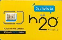 H2O PREPAID SIM CARD_UNLIMITED TALK, TEXT & DATA $50-30DAYS