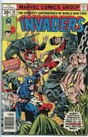 Invaders 1975 series # 18 fine comic book