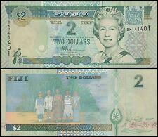 Fiji 2 Dollars, 2002, P-104, UNC, Queen Elizabeth II (QEII)