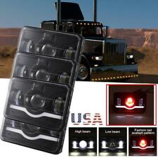 """4x6"""" 6000K LED Headlights Sealed Hi-Lo DRL For Peterbilt Kenworth T600/T800/W900"""