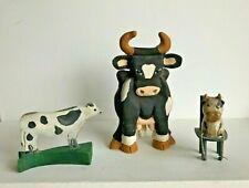 New ListingLot of 3 Cow Figurines Fun Collectible! All for One Price ~ Cow Collection