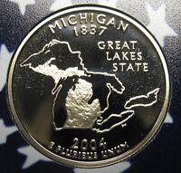 2004-S Michigan Gem DCAM Clad Proof State Quarter Stunning Coin  DUTCH AUCTION