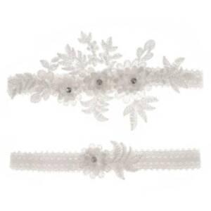 Women Wedding Bridal Floral Lace Thigh Rings Elastic Leg Garters Bowknot Ring CH