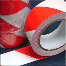 Marcwell SOL LIGNE Lane Entrepôt Hazzard bande rouge/blanc 50mm x 33m hwt50rw