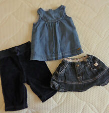 Bellybutton vestido * Ducky Beau rock * Ralph Lauren hosegr. 62/3-6 meses azul