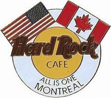 Hard Rock Cafe Montreal 1997 Corporate Unification Flags Logo Pin