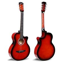 "1x RED Acoustic Classic Guitar Package 3/4 Size 38"" Beginner Student Adult UK"