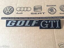 "MK1 GOLF GTI  GENUINE TAILGATE/BOOT BADGE""BRUSHED CHROME"" NEW CLASSIC OEM PART"