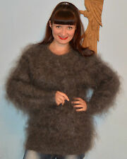 New Mohair Sweater Hand Knitted very warm Goat Down fluffy fuzzy unisex
