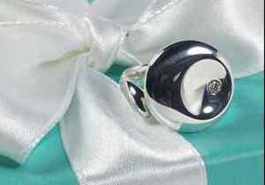 "Tiffany & Co. Elsa Peretti Diamond ""Round"" Ring Sterling Silver Retired, Beauty!"