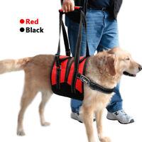 Tragegeschirr Gehhilfe für Hunde Hundelaufhilfe Tragehilfe Hebehilfe Schwarz Rot