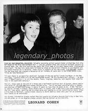 Leonard Cohen Columbia Original Music Press Photo