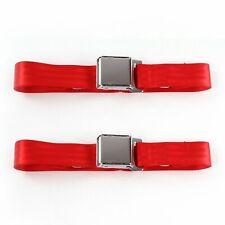 Ford Truck 1942 - 1947  Airplane 2pt Red Lap Bucket Seat Belt Kit - 2 Belts v8
