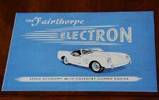 Fairthorpe Electron Mark II (Coventry Climax) brochure Prospekt, 1957