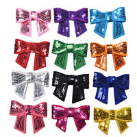 12 Pcs Sequin Bows Knots DIY Applique Accessiories Hairband Cloth Decorations_ti