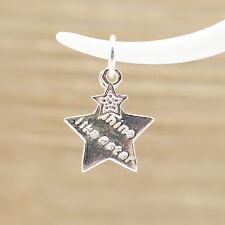 925 Sterling Silver Double Filles Lucky briller comme une Étoile Pendentif Charme