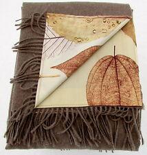 wendeplaid, kaschmirplaid Couverture 100% laine+coton satin