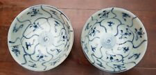2 Tek Sing Antique 19thC Chinese blue and white porcelain bowls China