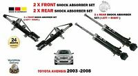 FOR TOYOTA AVENSIS 2003-2008 2x FRONT + 2x REAR SHOCK ABSORBER STRUT SHOCKER SET