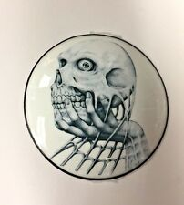 Skull in Hand Gas Cap Cover Medallion for Harley Davidson - Cool and Unique!