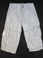 Boys Pumpkin Patch beige cotton cargo pants Size 1    with an adjustable waist
