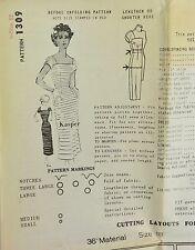 Vtg 50s SPADEA American Designers Dress Womens Sewing Pattern Sz 12 1309 KASPER