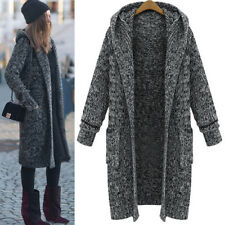 Women Winter Warm Long Sleeve Knitted Cardigan Coat Jacket Outwear Loose Sweater