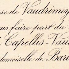 Pierre Raphaël De Vaudrimey D'Avout De Capellis 1887