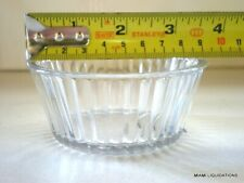 Lot of 48 4.5oz fluted carlisle Ramekin carlisle 845 clear San plastic Bpa free