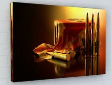 COD ABSTRACT MILITARY BOX CANVAS PICTURE PRINT CHUNKY FRAME LARGE 2239-2