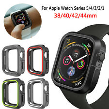 TPU Silicone Bumper Case Cover For Apple Watch Series 5/4/3/2/1 iWatch Protector