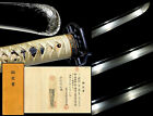 NBTHK Certificated Sword in Shrimp Koshiare Signed KANESADA Japan Edo Original