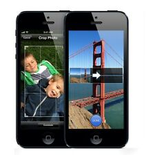 NEW APPLE IPHONE 5  - 64GB - BLACK UNLOCKED IOS 10 SMARTPHONE + FREE GIFTS