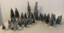 Lot Of 50 Lemax Christmas Village Accessories Assorted Trees Evergreen Snow