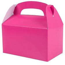 36 HOT PINK COLOR TREAT BOXES Birthday Party Loot Goody Bags #ST18 FREE SHIPPING