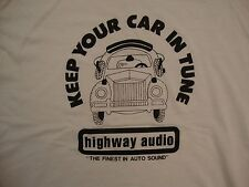 Vintage Highway Audio Auto Sound Car Tune Music Speakers Paper Thin T Shirt L