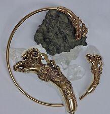 Torque Bronze keltischer Halsreif Widderköpfe Kelten Halsschmuck Torques Widder